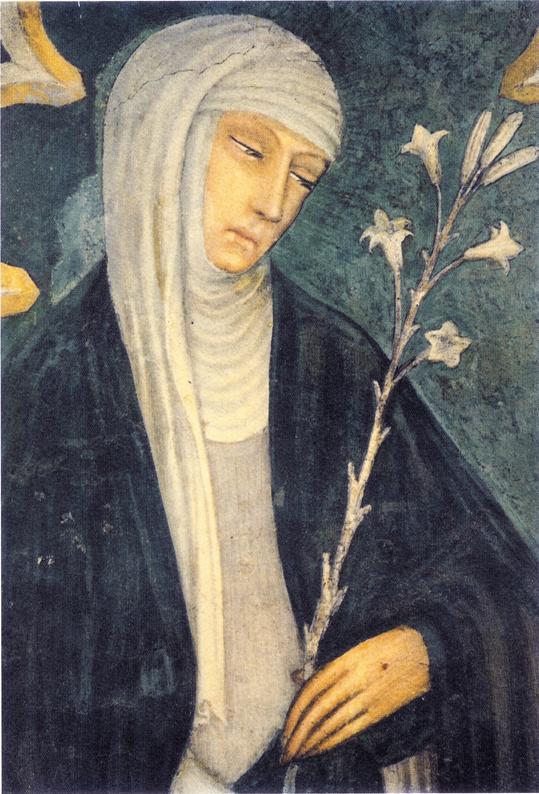 Fresko von Andrea Vanni in der Basilika S. Domenico in Siena, um 1375