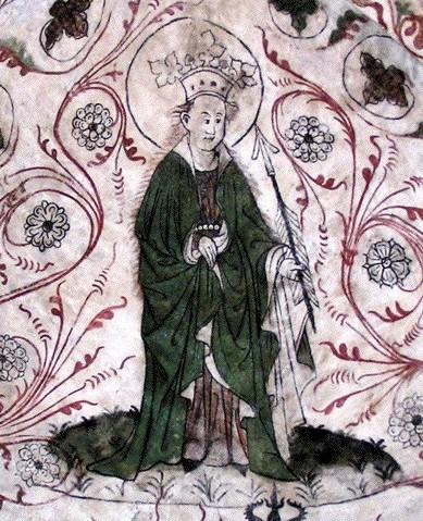 Deckenfresko in der Kirche von Överselö (Mälaren), um 1400