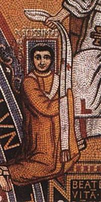 Mosaik im Triclinium Leoninum des Lateranpalasts, um 799