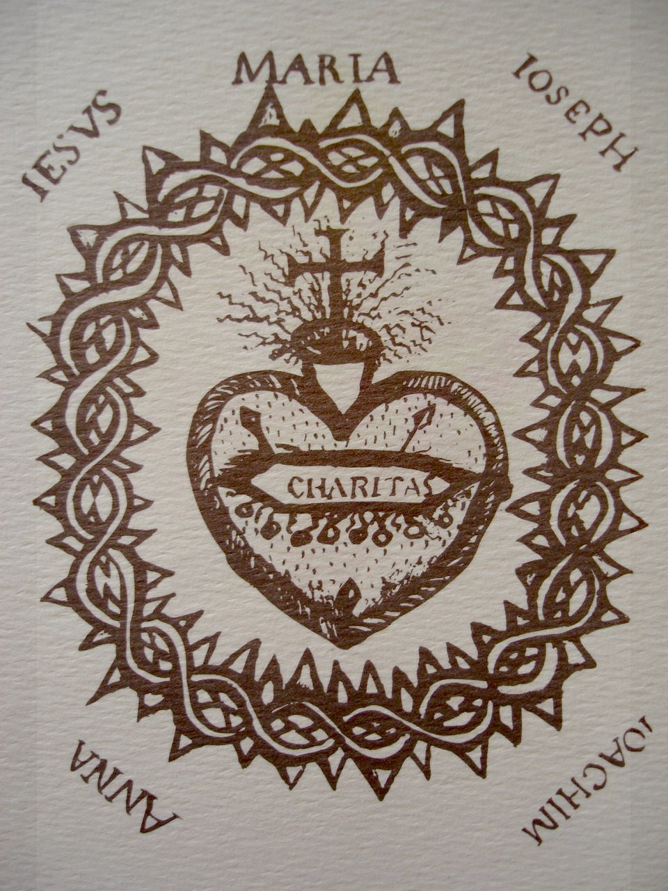 Originalzeichnung Margareta Maria Alacoques, 1685