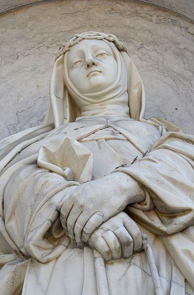 Statue an der Basílica da Estrela, Lissabon. Foto: Alvesgaspar (CC BY-SA 3.0)
