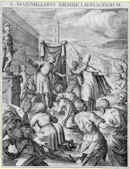Kupferstich von Raphael Sadeler, in: Matthäus Rader, Bavaria Sancta, 1615