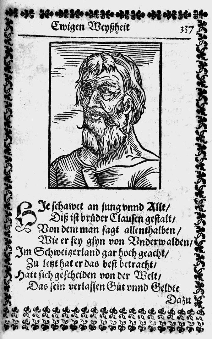 Niklaus von Flüe, aus: (Heinrich Seuse) Manual Oder Handtbüchlein: der Ewigen Weyßheit, 1591