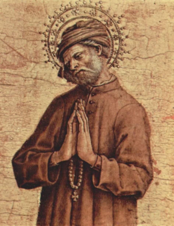 Carlo Crivelli, Nikodemus (Detail einer Predellatafel), 1482, Pinacoteca di Brera, Mailand