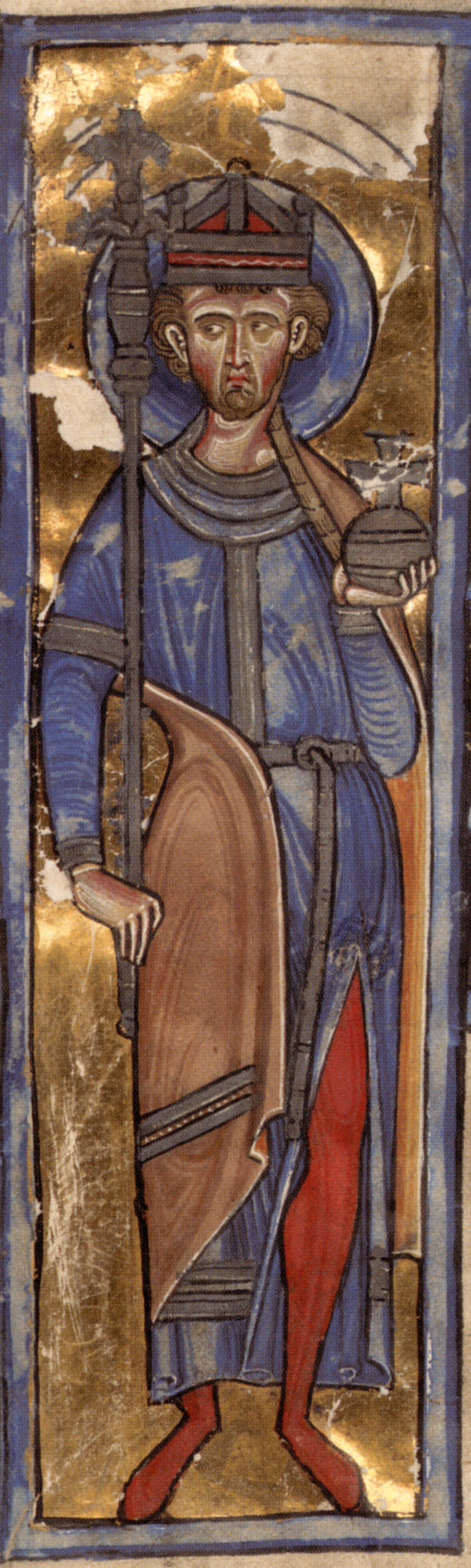 König Oswald, Manuskript Spencer 1, um 1220, New York Public Library