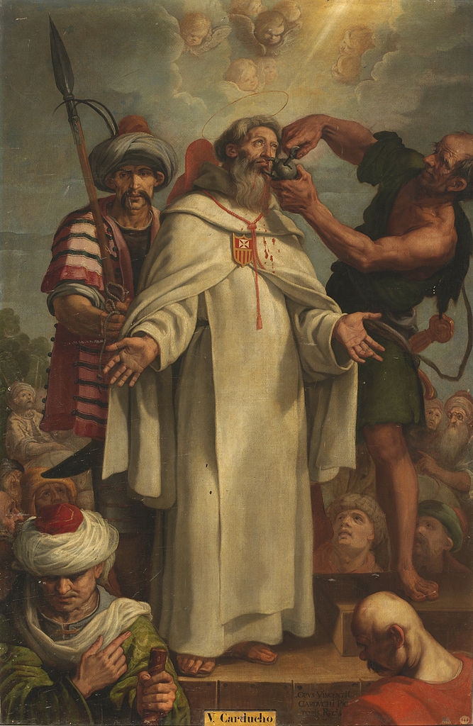 Vicente Carducho, Raimunds Lippen werden von den Mauren verschlossen, um 1600, Museo del Prado, Madrid