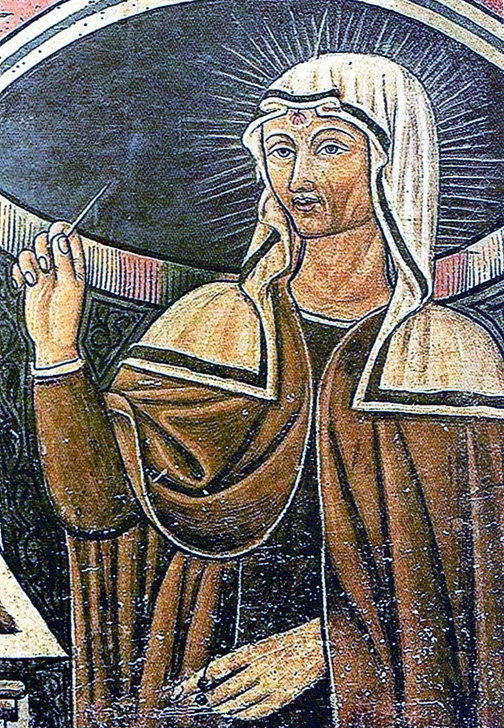 Portraitgemälde an Ritas Sarkophag, 1457