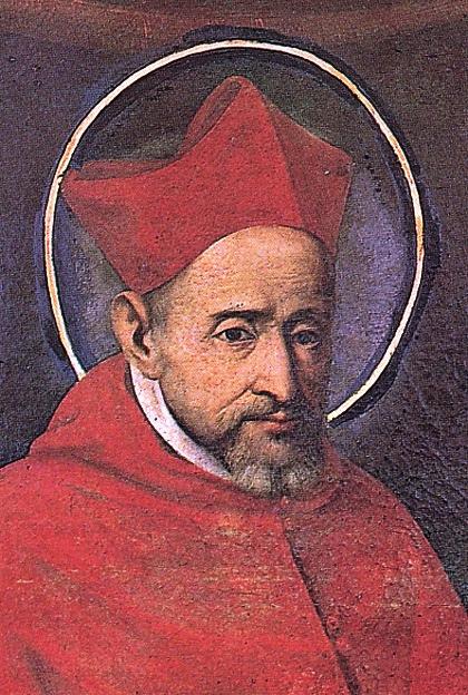 Portrait in der Kirche S. Ignazio, Rom, aus: Vera Schauber, Hanns M. Schindler, Bildlexikon der Heiligen, 1999. Mit freundlicher Genehmigung der Autoren