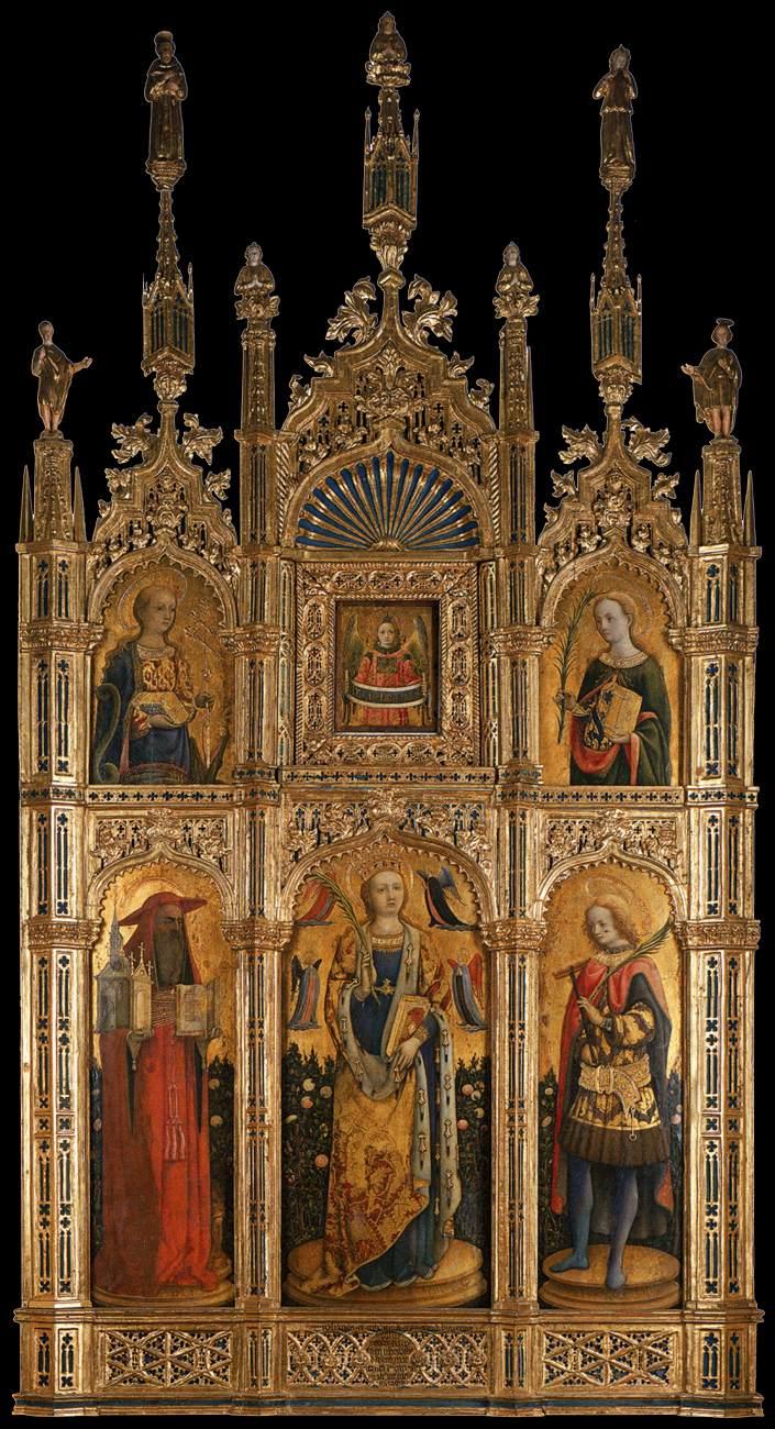 Antonio Vivarini, Sabinen-Polyptychon, 1443, Kirche San Zaccaria, Venedig
