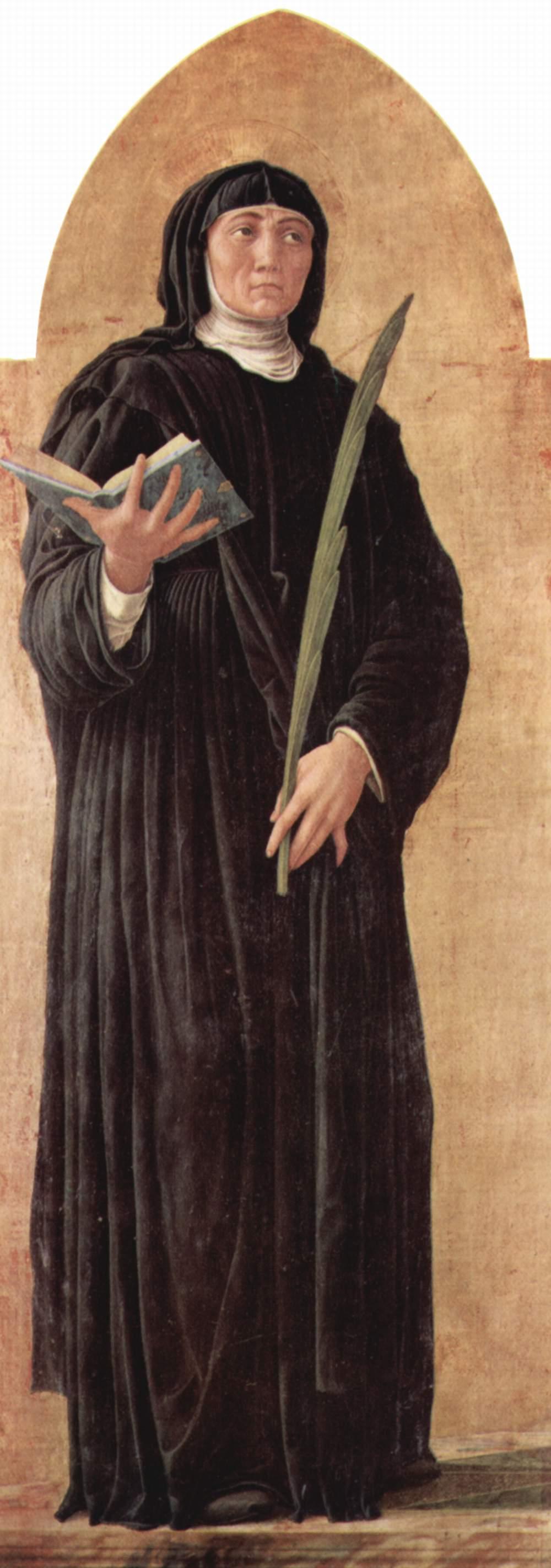 Andrea Mantegna, Die hl. Scholastika, 1453/1454, Pinacoteca di Brera, Mailand