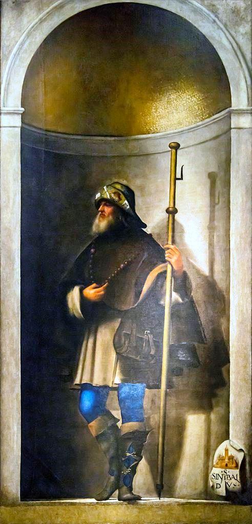 Sebastiano del Piombo, S. Sinibaldus, um 1509, Gallerie dell'Accademia, Venedig