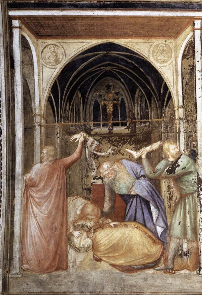 Das Martyrium des heiligen Stanislaus. Fresko von Puccio Capanna in der Unterkirche der Basilika San Francesco, Assisi, um 1340