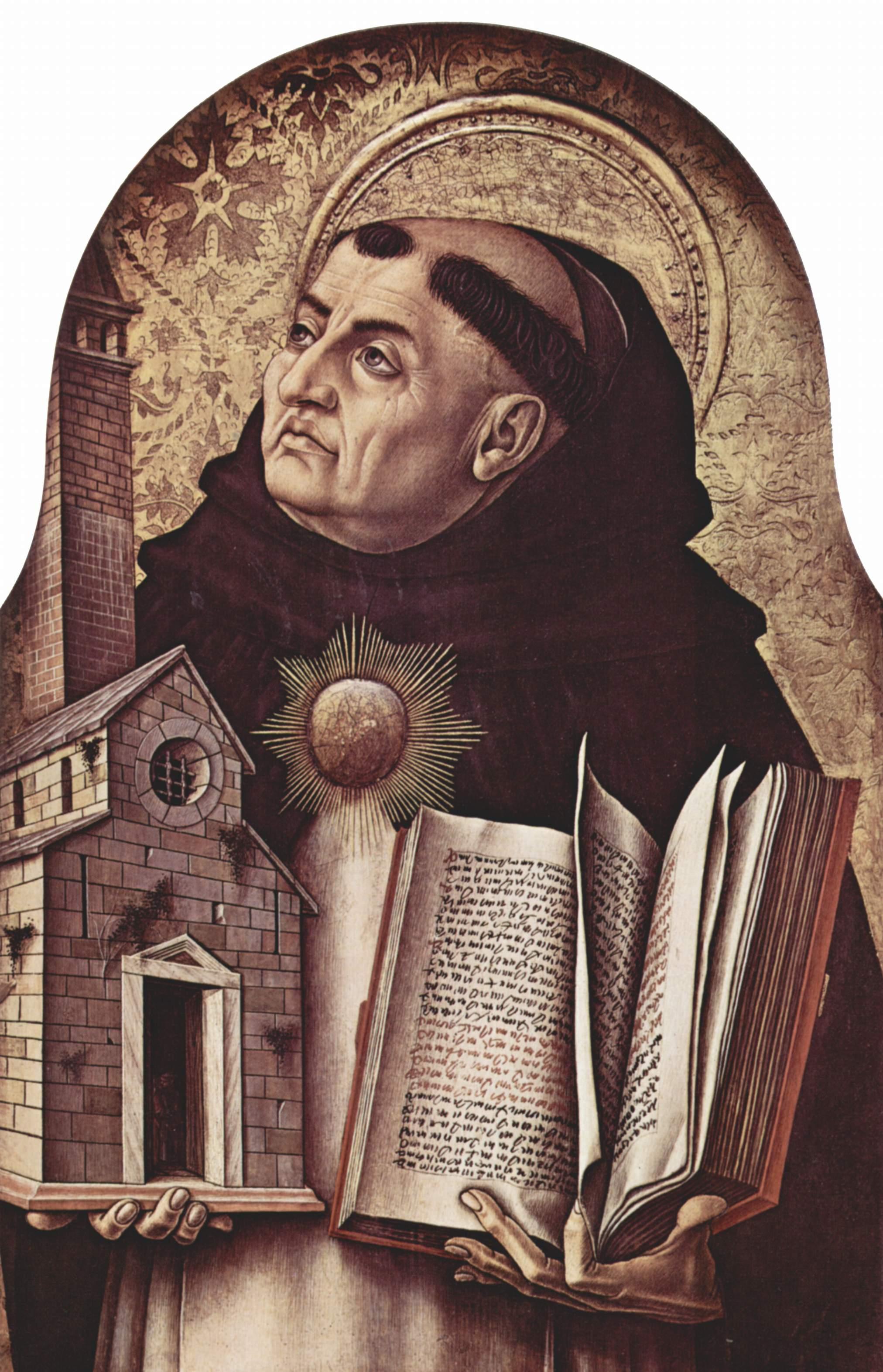 Carlo Crivelli, Der hl. Thomas von Aquin, 1476, National Gallery, London