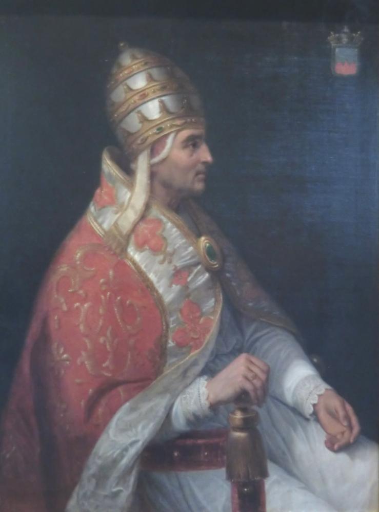 Henri Calixte Serrur, Portrait Urbans V., 1839, Papstpalast Avignon