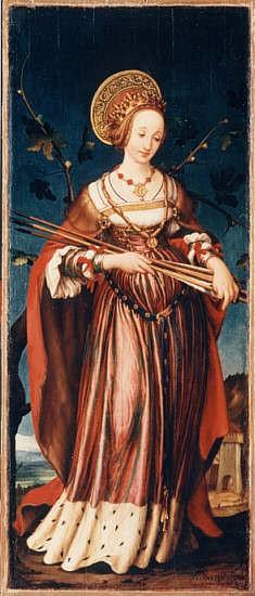 Hans Holbein d.J., Die heilige Ursula, 1523, Staatliche Kunsthalle, Karlsruhe