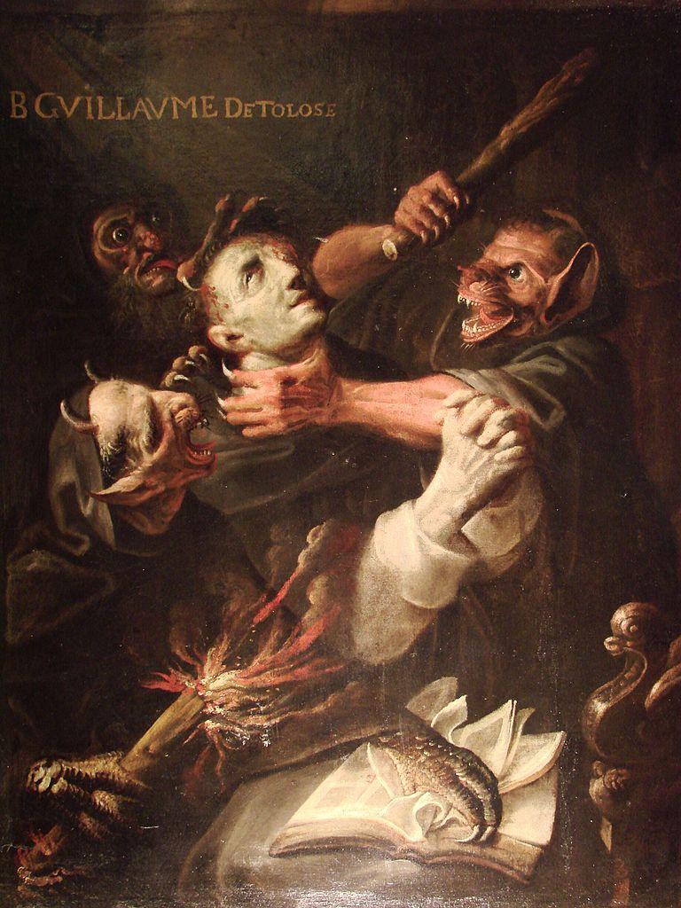 Ambroise Frédeau, Der heilige Wilhelm, von Dämonen gequält, 1657, Musée des Augustins, Toulouse. Foto: Guérin Nicolas (CC BY-SA 3.0)