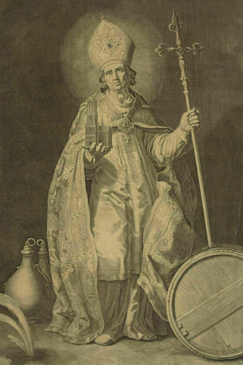 Kupferstich nach einem Gemälde von Abraham Bloemaert, um 1630