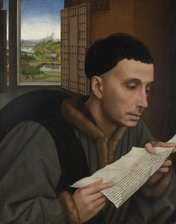 Rogier van der Weyden (Werkstatt), Lesender Mann/Der heilige Yves, um 1450, National Gallery, London