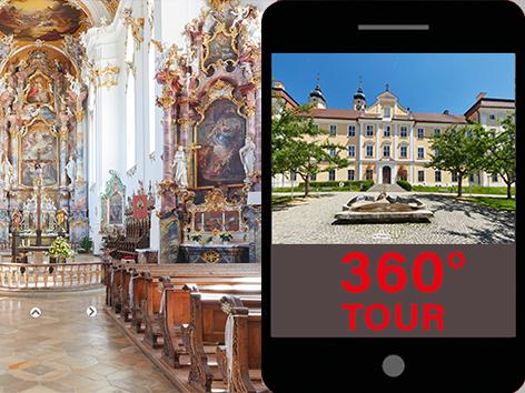 360-Grad-Führung Kloster Roggenburg