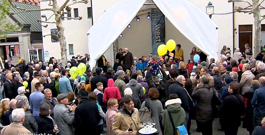 Boxbild Moritzkirche Festgottesdienst