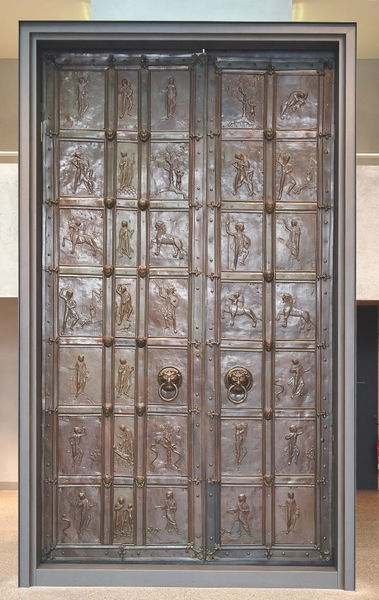 Bronzeportal Im Di Zesanmuseum St Afra Beim Wettbewerb