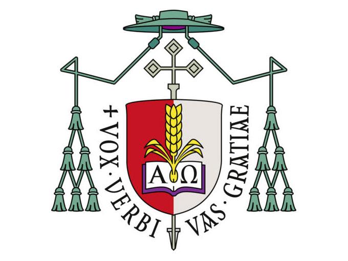 Das Wappen von Bischof Bertram