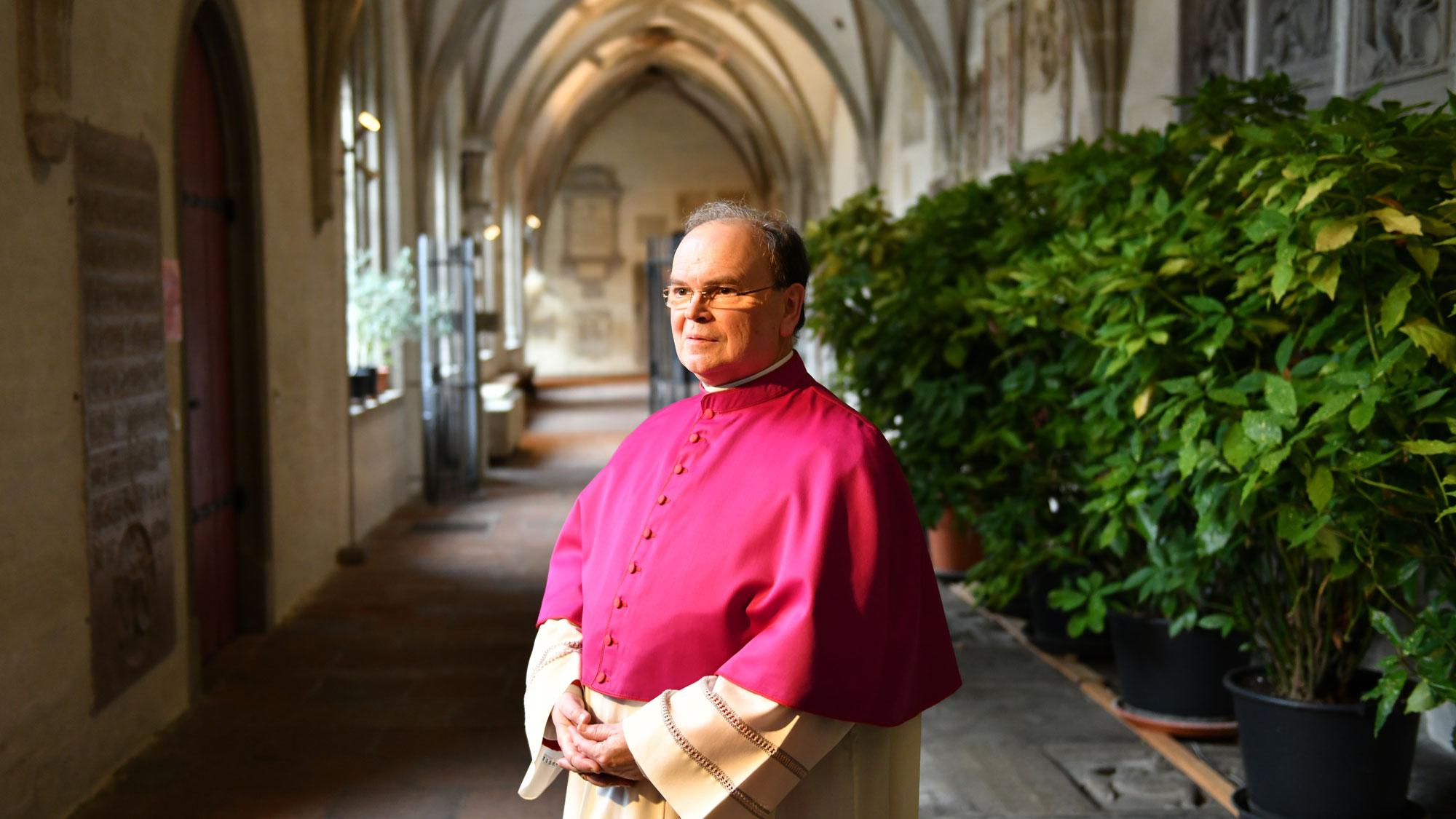 Der neu ernannte Bischof von Augsburg, Diözesanadministrator Prälat Dr. Bertram Meier (Foto: Nicolas Schnall / pba)