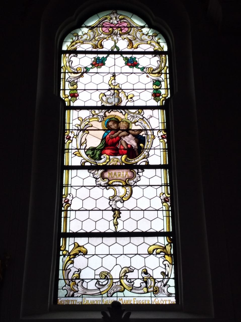 Kirchenfenster St. Nikolaus Oberndorf 2018 Hl. Maria (957x1280)