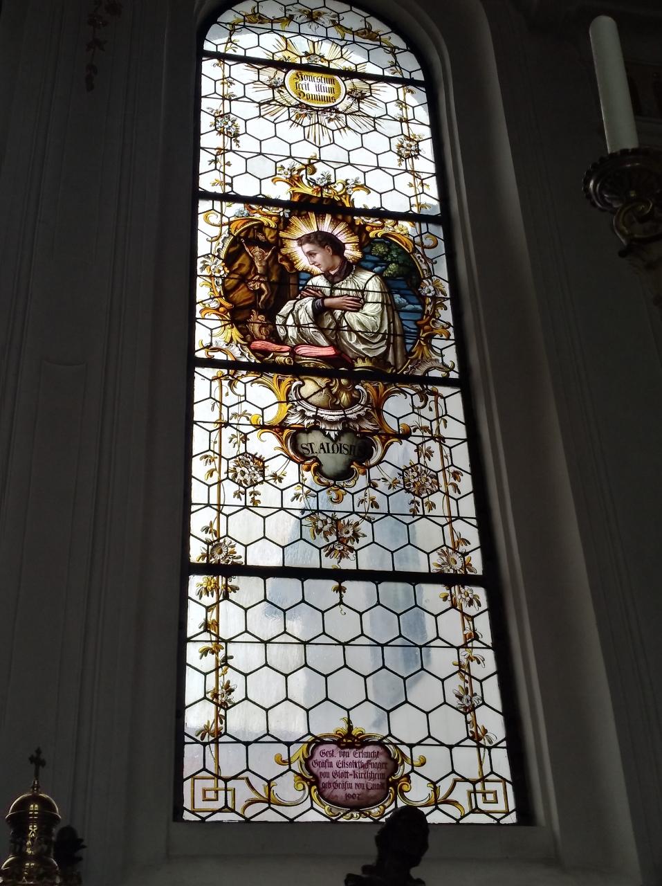 Kirchenfenster St. Nikolaus Oberndorf 2018 St. Aloisius (957x1280)