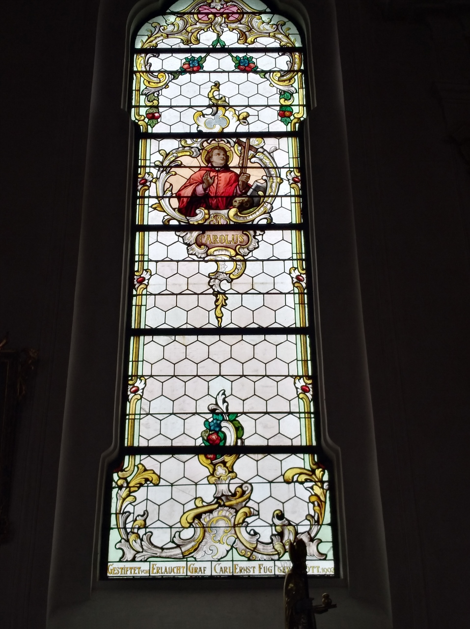 Kirchenfenster St. Nikolaus Oberndorf 2018 St. Carolus (957x1280)