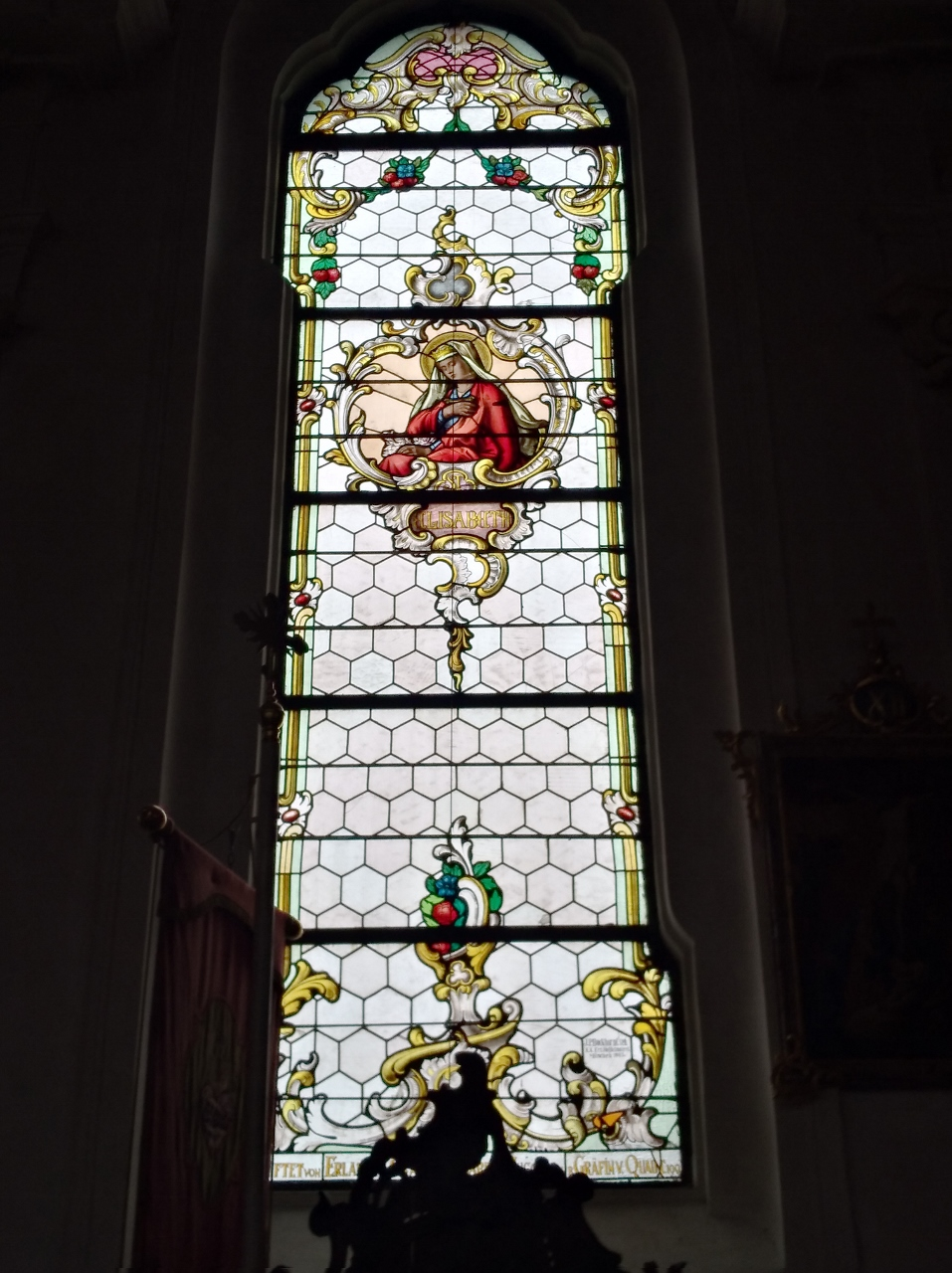 Kirchenfenster St. Nikolaus Oberndorf 2018 St. Elisabeth (957x1280)