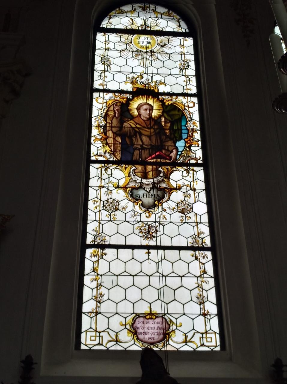 Kirchenfenster St. Nikolaus Oberndorf 2018 St. Fidelis (957x1280)