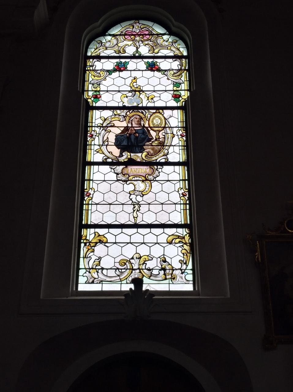 Kirchenfenster St. Nikolaus Oberndorf 2018 St. Franziska (957x1280)