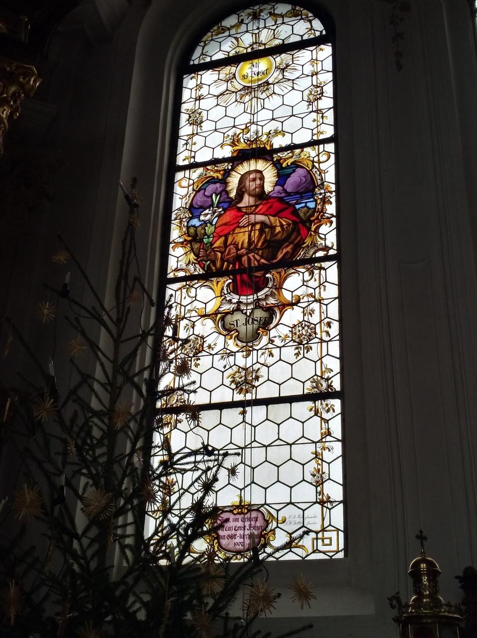 Kirchenfenster St. Nikolaus Oberndorf 2018 St. Josef (957x1280)