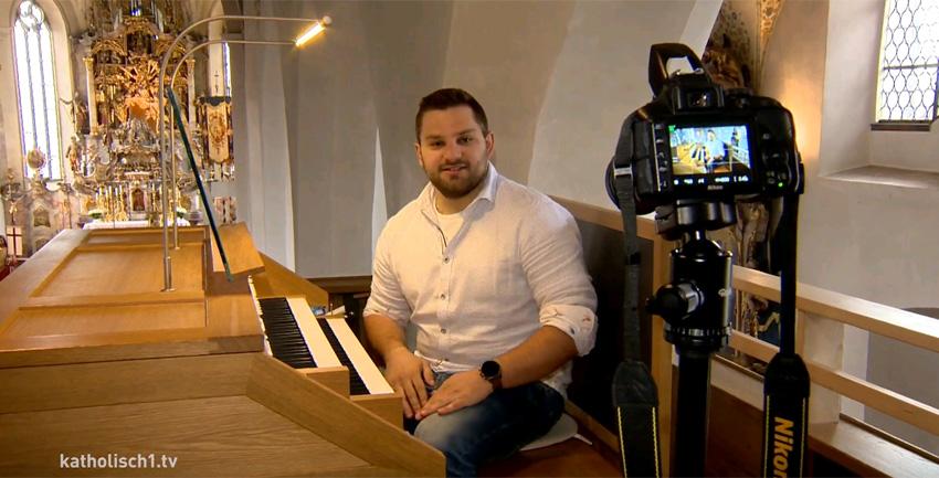 Organist und Youtuber Andreas Dasser (katholisch1.tv)