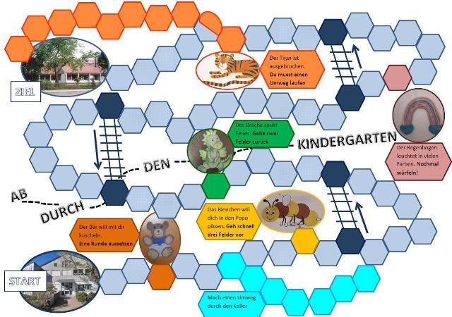 Spiel durch den Kindergarten
