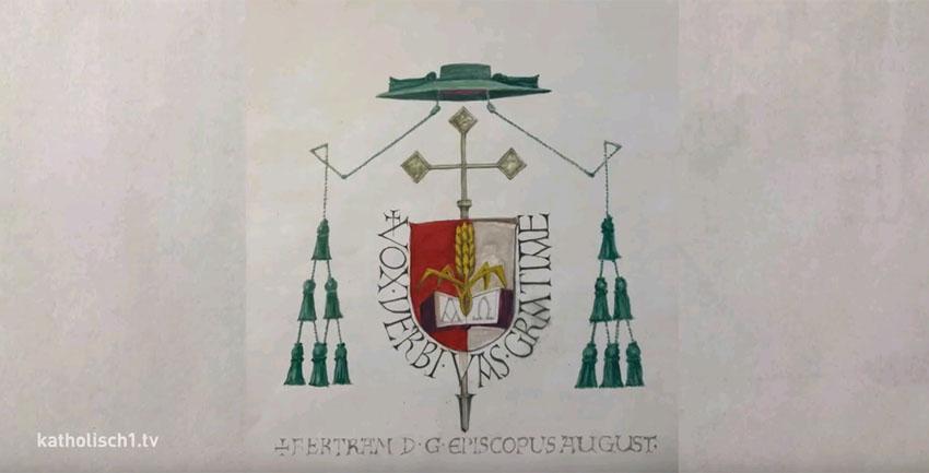 Wappen und Wahlspruch Bertram Meier (katholisch1.tv)