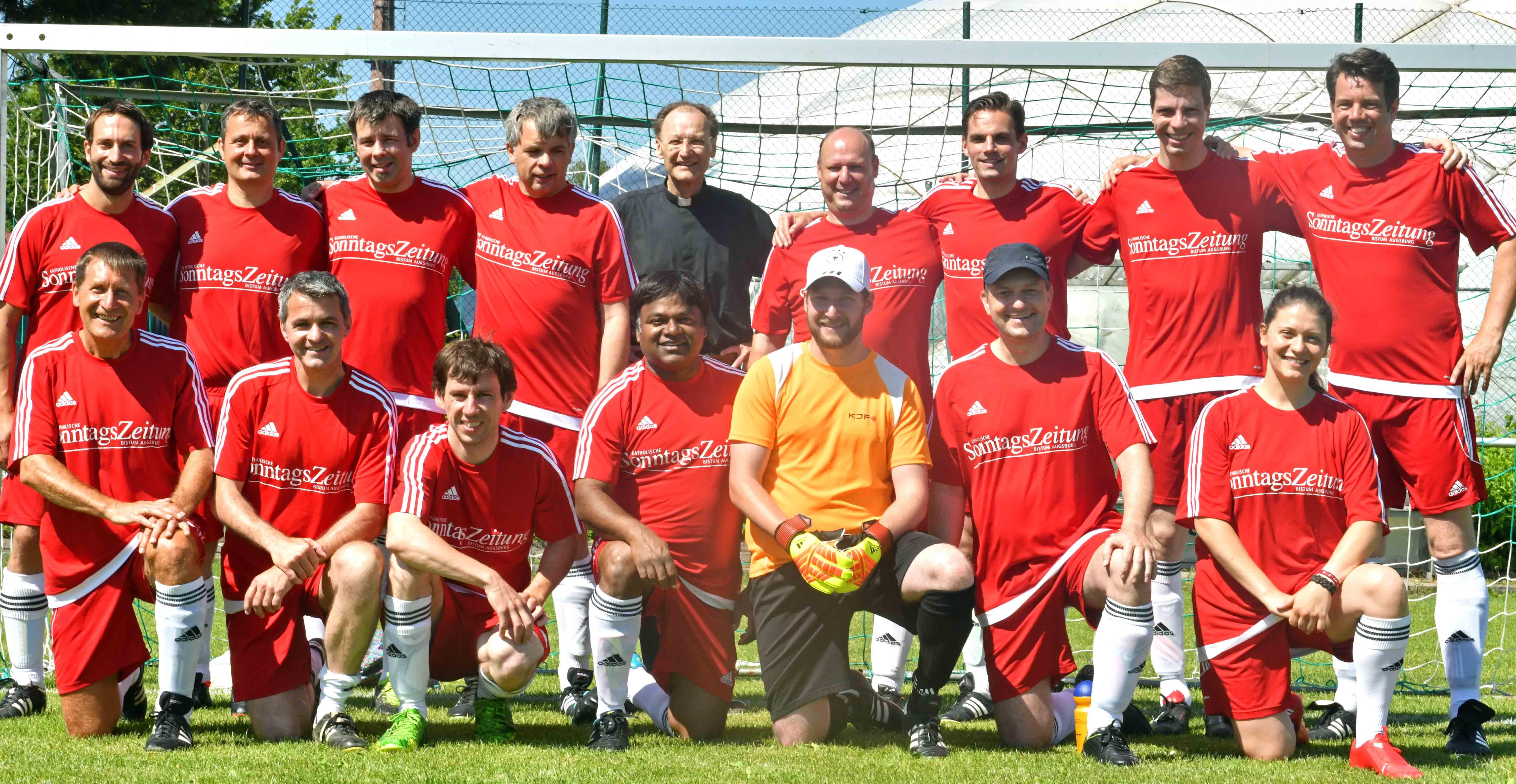 Nach drei Titeln in Folge musste sich das Team aus dem Bistum Augsburg heuer mit der Vizemeisterschaft zufrieden geben. (Fotos: Daniel Jäckel / pba)