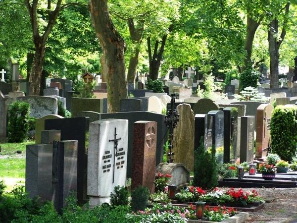 Katholischer Hermanfriedhof in Augsburg.