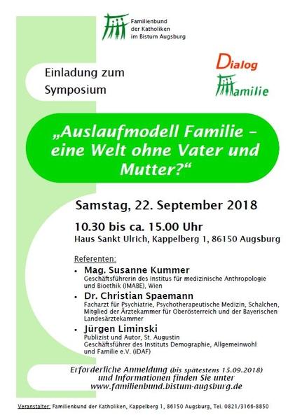 """""""Auslaufmodell Familie?"""": Symposium nimmt Folgen neuer Familienkonstellationen in den Blick"""