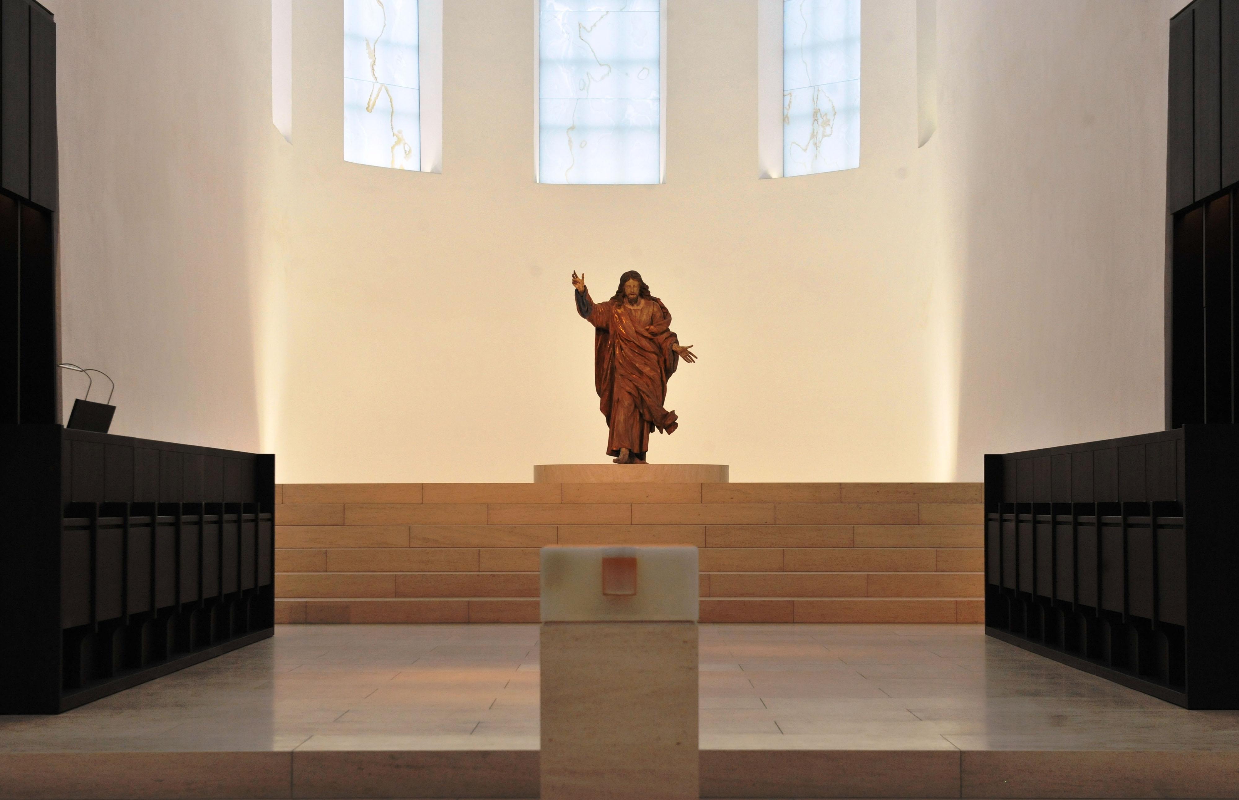 Wiederkehrender Christus in der Stadtpfarrkirche St. Moritz. (Foto: Nicolas Schnall / pba)