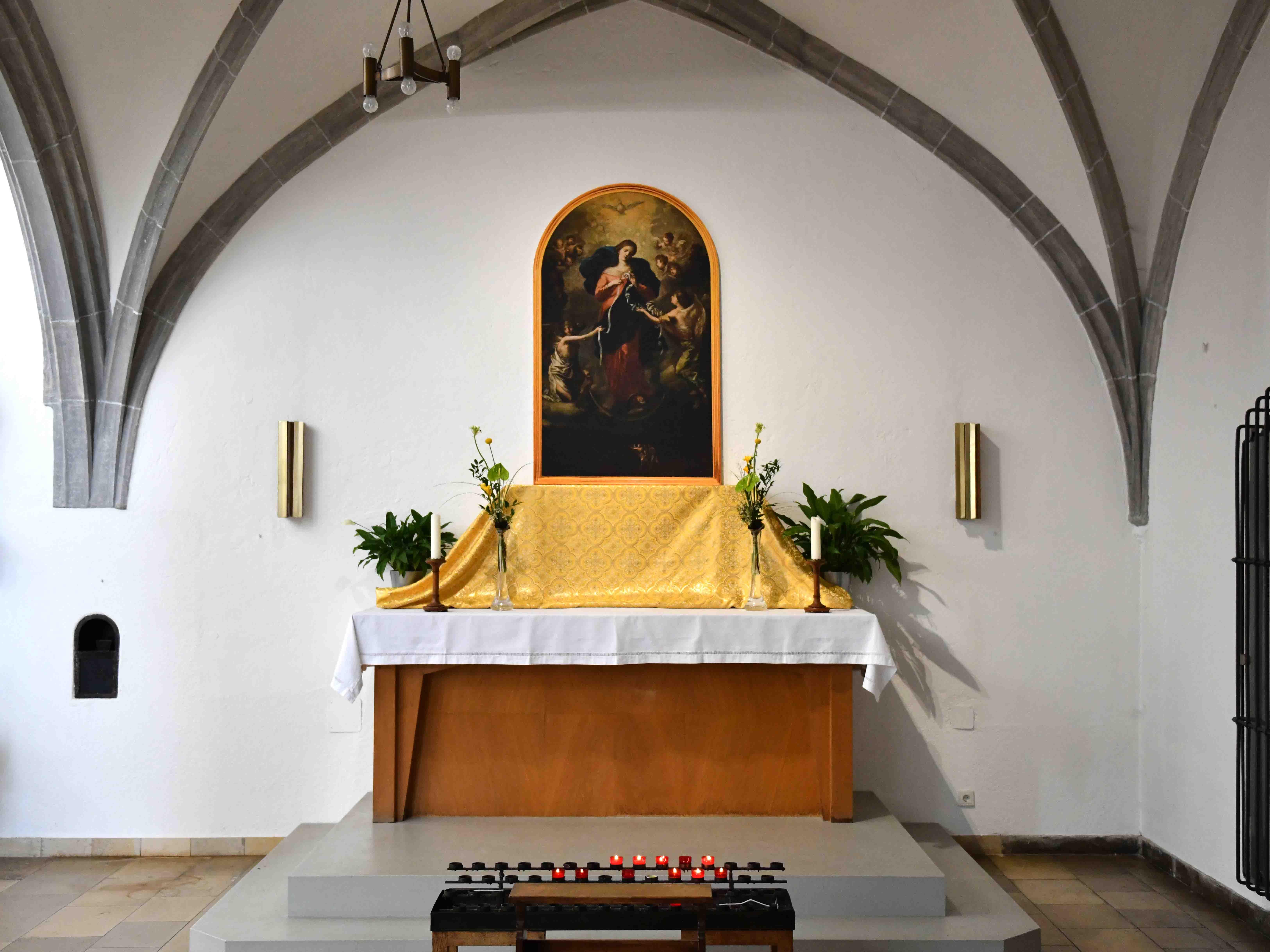 Eine Kopie des bekannten Gnadenbilds hängt seit Ostern in der nahegelegenen Wallfahrtskirche Heilig Kreuz. (Foto: Nicolas Schnall / pba)