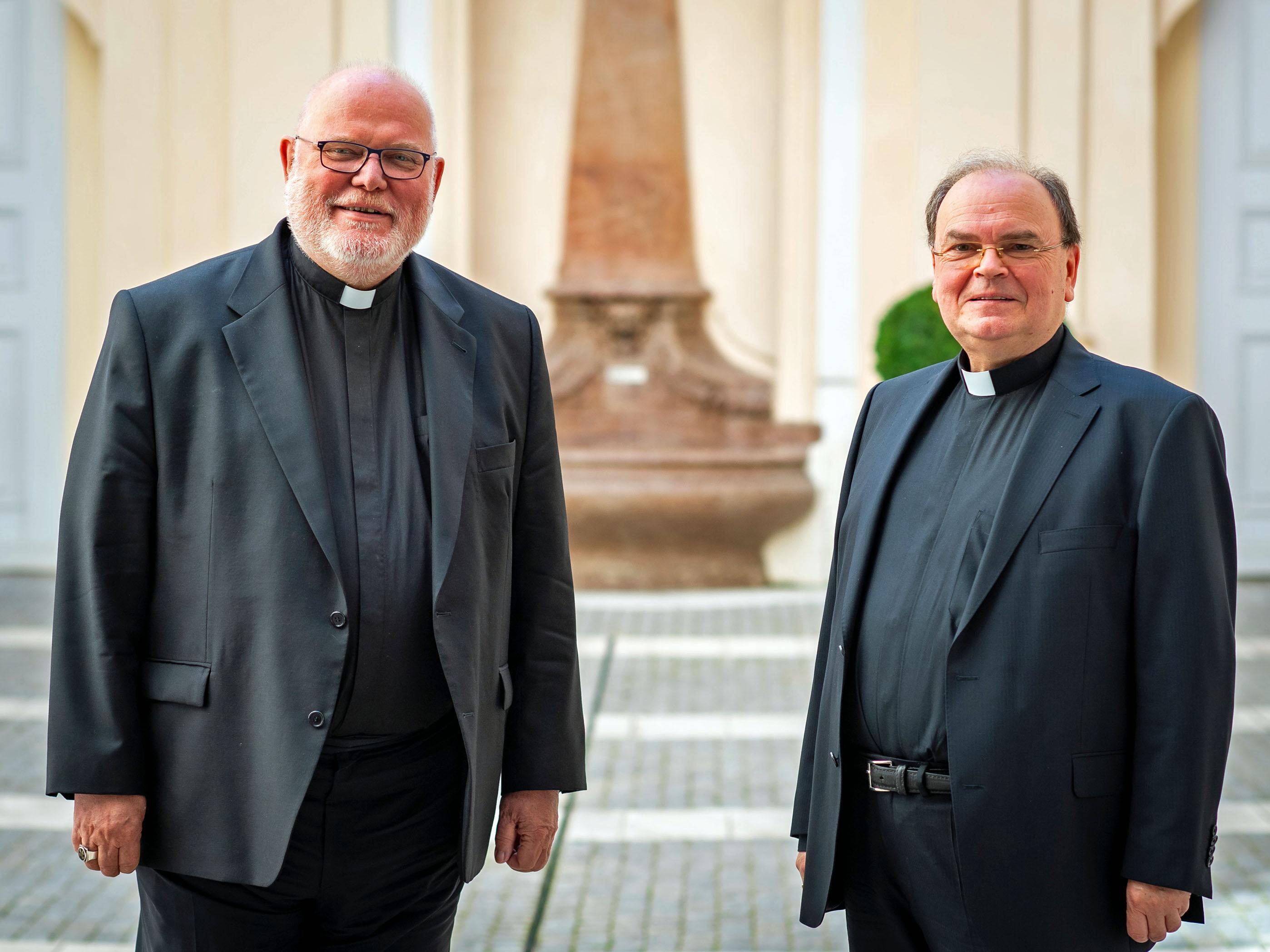 Bischof Bertram zu Besuch bei Kardinal Marx im Palais Holnstein (Foto: Erzbistum München und Freising / Lennart Preiss)