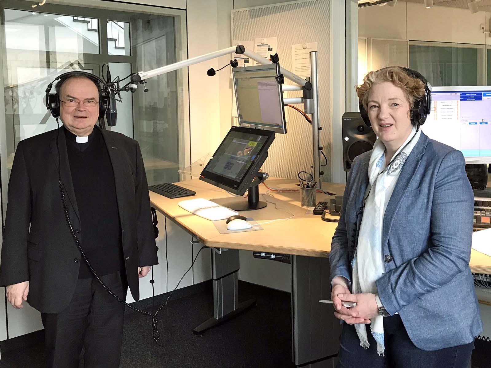 Der ernannte Bischof Dr. Bertram Meier zu Gast bei Mittags in Schwaben (Foto: Karl-Georg Michel)