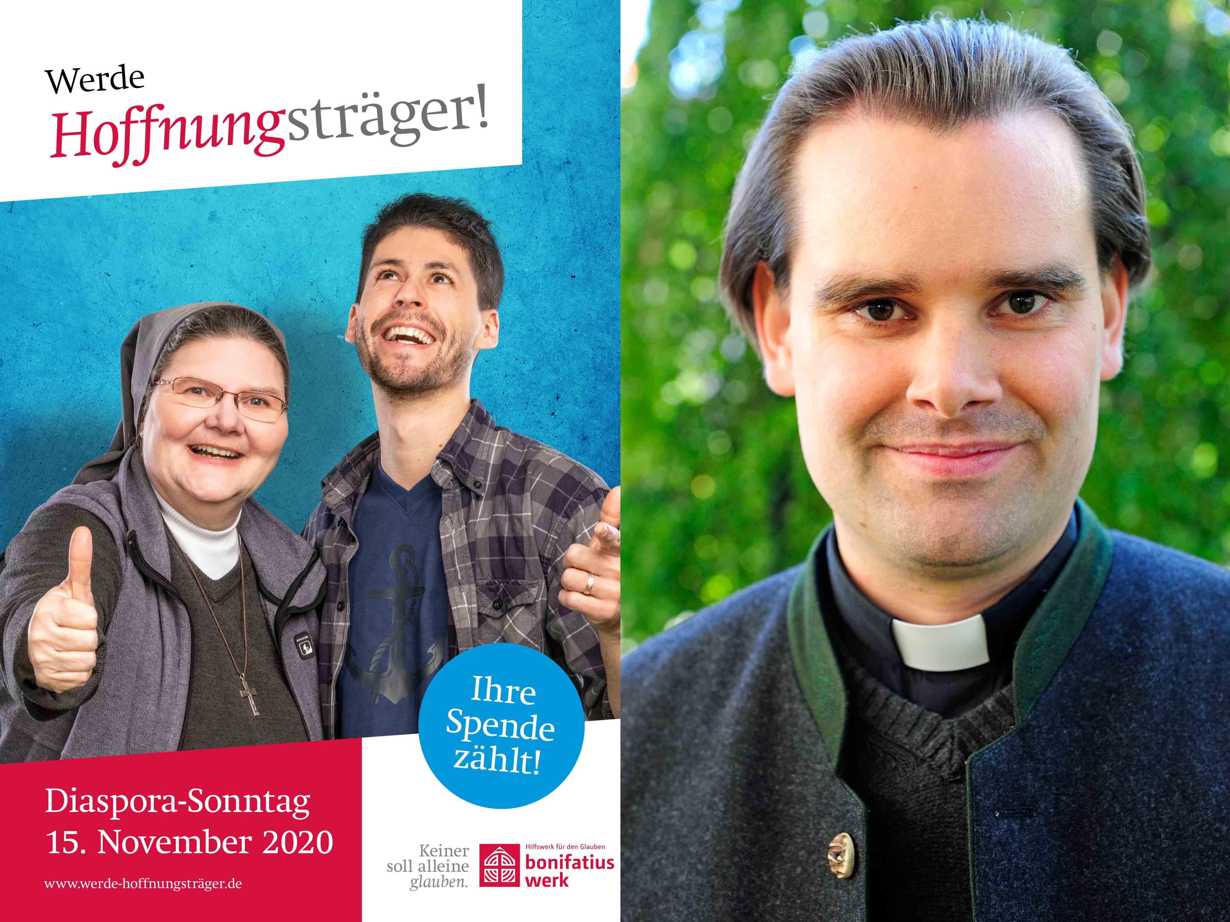 Der neue Diözesanvorsitzender des Bonifatiuswerks Diakon Andreas Martin (rechts) ruft zu Solidarität mit Christen in Diasporagebieten auf, speziell jetzt zur Diaspora-Aktion. (Foto: Bonifatiuswerk / pba)