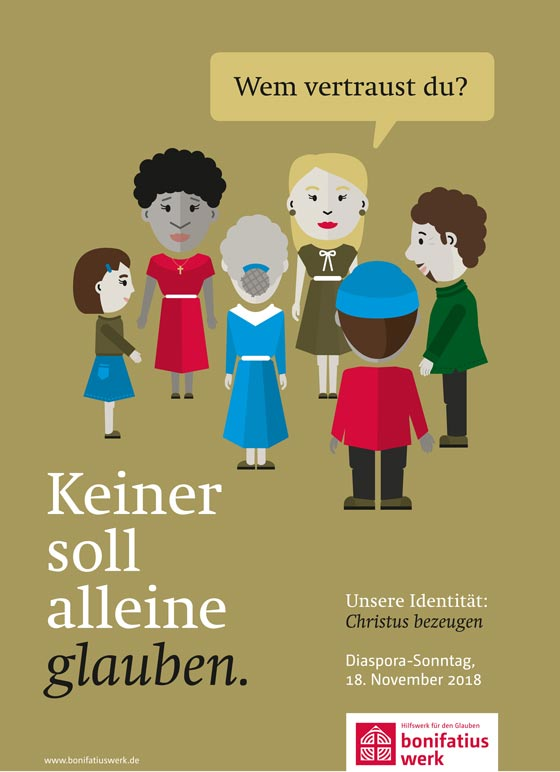 """Diaspora-Sonntag: Aktion und Kollekte unter dem Leitwort """"Unsere Identität: Christus bezeugen"""""""