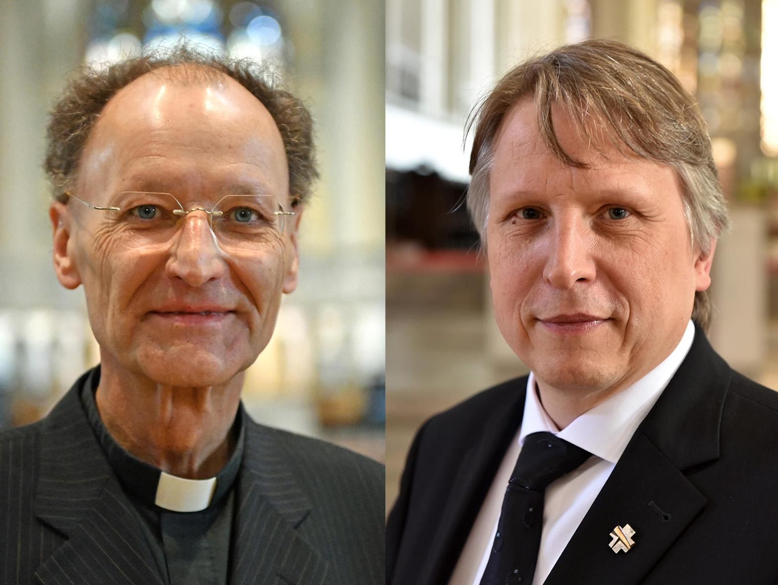 Domdekan Wolfang Hacker (links) und Domkapitular Thomas Groll (Fotos Daniel Jäckel_Nicolas Schnall/pba)