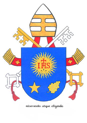 Das offizielle Wappen von Papst Franziskus.