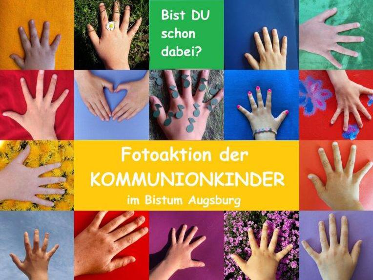 Fotoaktion für Erstkommunionkinder