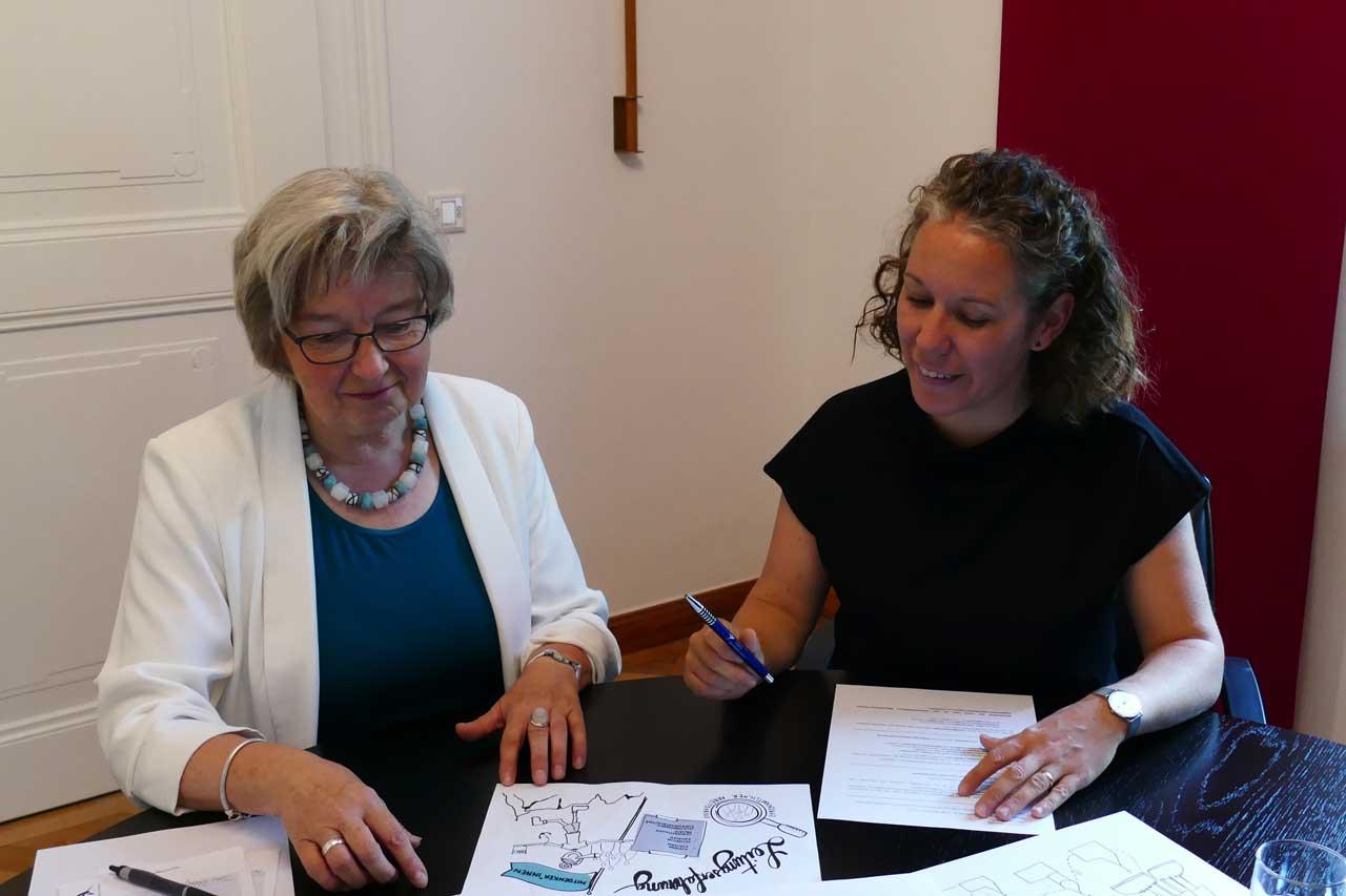 Marlene Gölz, eine der beiden Mentees aus dem Bistum Augsburg, wurde bei dem Projekt von Maria-Anna Immerz als Mentorin begleitet. (Foto: Lydia Schwab)